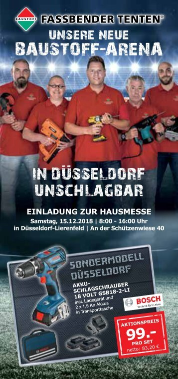 Flyer Hausmesse in Düsseldorf am 15.12.2018