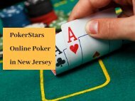 PokerStars Online Poker in New Jersey