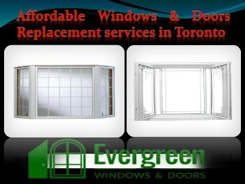Affordable Windows & Doors Replacement services in Toronto