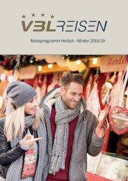 VBL REISEN - Reiseprogramm Herbst - Winter 2018/19