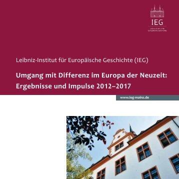IEG-Forschungsprogramm 2012–2017