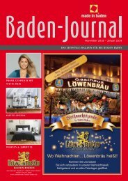 Baden-Journal November 2018 - Januar 2019