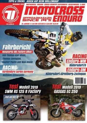Motocross Enduro Ausgabe 12/2018
