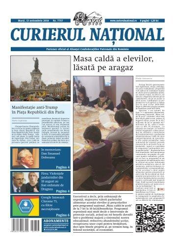 Curierul Național - ediția din 13 noiembrie 2018