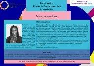 Women in Entrepreneurship Sierra Leone - Dare 2 Aspire - meet the panellists.