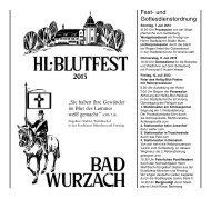 Festschrift Hl. Blutfest 2013