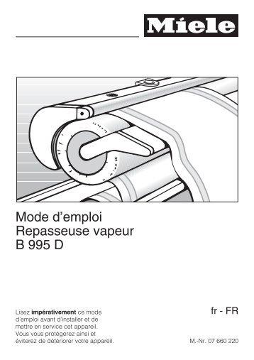 Miele B 3312 SpeedCare - Mode d'emploi