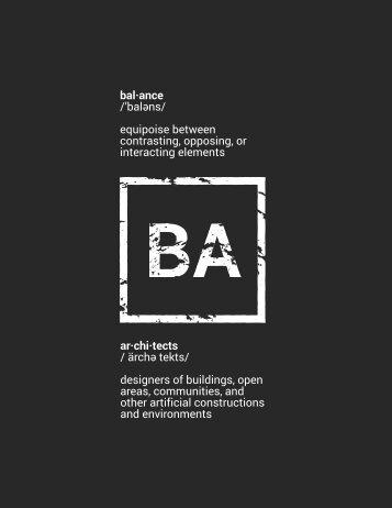 Balance Architects 2018