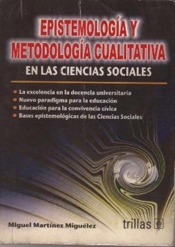 EPISTEMOLOGIA Y METODOLOGIA CUALITATIVA