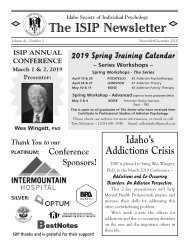 ISIP Nov-Dec 2018 Newsletter