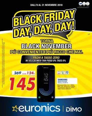 Volantino Black Friday dal 8 al 21 Novembre 2018