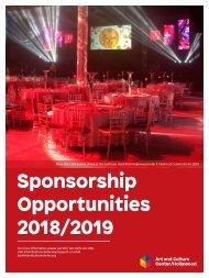 2019 Sponsorship Packet