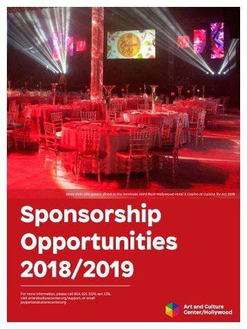 2019 Sponsorship Packet