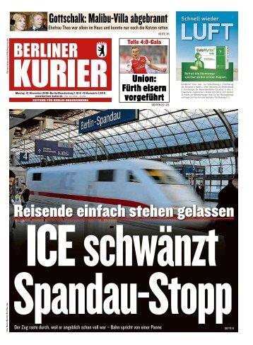 Berliner Kurier 12.11.2018