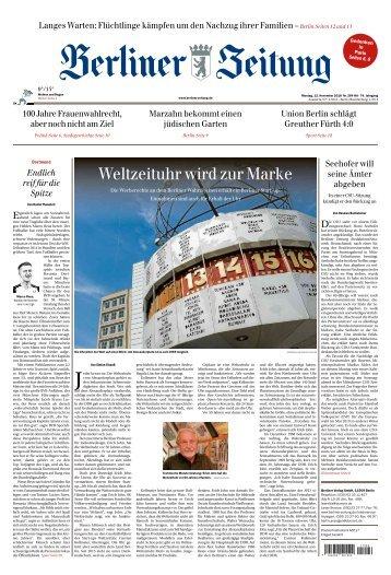 Berliner Zeitung 12.11.2018