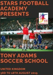 Tony Adams Soccer School 2019 at Stars Football