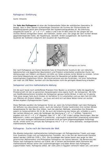 PYTHAGORAS (Wikipedia)