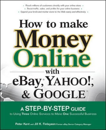 How to make money online with Ebay, Yahoo and Google