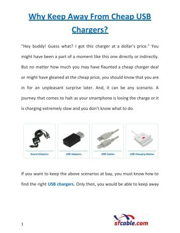 Why Keep Away From Cheap USB Chargers