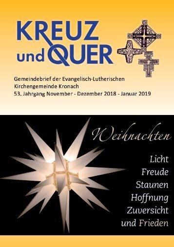 Ev. Gemeindebrief Kronach November 2018 - Januar 2019