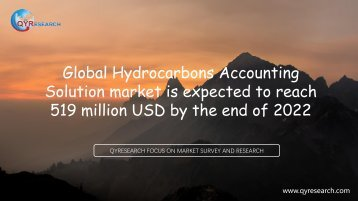 Global Hydrocarbons Accounting Solution market is expected to reach 519 million USD by the end of 2022