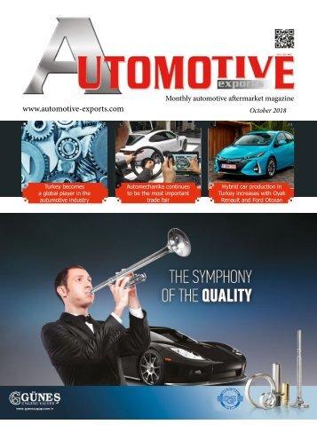 Automotiv Exports October 2018