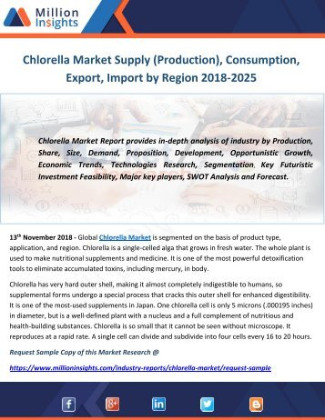 Chlorella Market Supply (Production), Consumption, Export, Import by Region 2018-2025