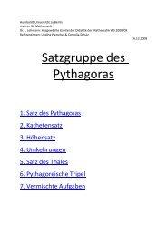 Satzgruppe des Pythagoras - Mathematik und ihre Didaktik ...