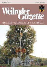 Weilroder Gazette November/Dezember 2018