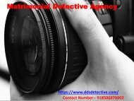 Matrimonial Detective Agency in Delhi India