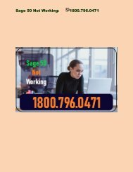 1800-796-0471: Why Sage 50 not Working after Windows Update