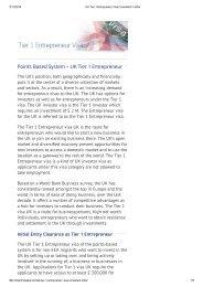 UK Tier 1 Entrepreneur Visa Consultant in India