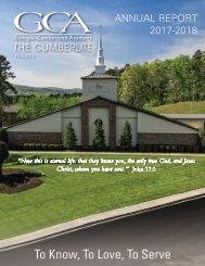 Cumberlite 2018 Fall / Annual Report