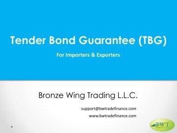 Tender Bond Guarantee Procedure