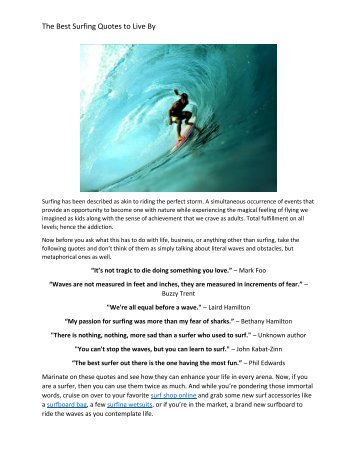 The Best Surfing Quotes to Live By