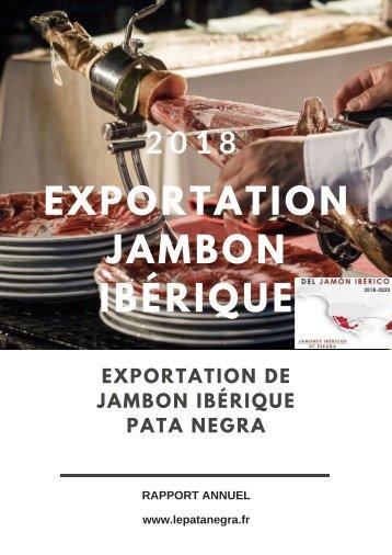 Exportation de jambon ibérique pata negra.