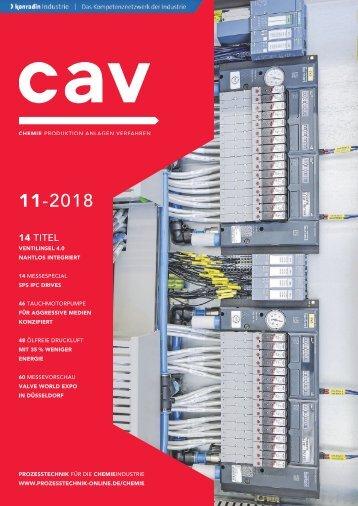 CAV Chemie Anlagen Verfahren 11.2018