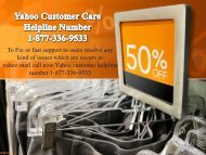 Yahoo Customer Care Helpline Number 1-877-336-9533