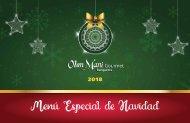 Menu Especial de Navidad 2018 2