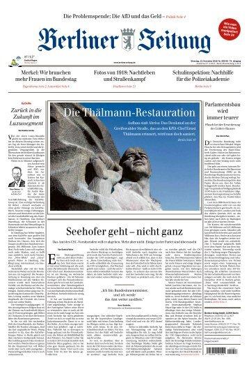Berliner Zeitung 13.11.2018