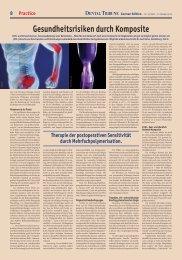 Gesundheitsrisiken durch Komposite - Dental Tribune International
