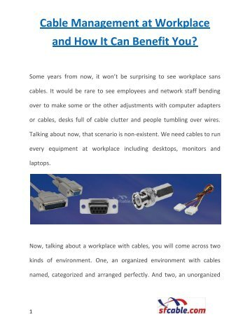 Cable Management at Workplace and How It Can Benefit You