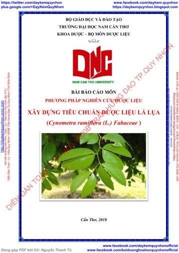 Xây dựng tiêu chuẩn dược liệu - Lá Lụa (Cynometra ramiflora (L.) Fabaceae) (2018)