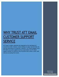 WHY TRUST ATT EMAIL CUSTOMER SUPPORT SERVICE