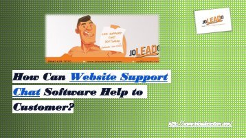How Can Website Support Chat Software Help to Customers