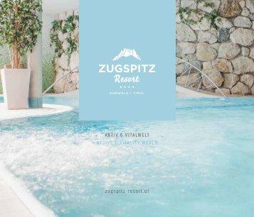 Zugspitz Resort Wellnessfolder 2018