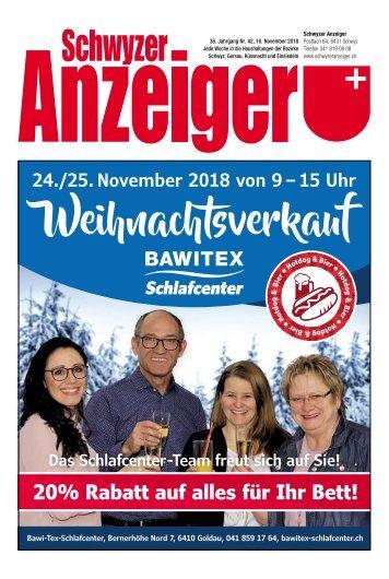 Schwyzer Anzeiger – Woche 46 – 16. November 2018