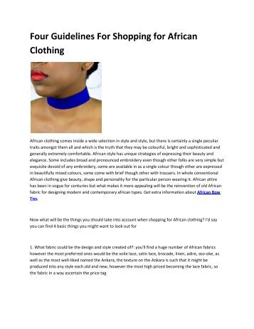 6 Modern African Clothing