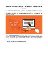 Innovative Approach_ 4 Benefits Of PPC Marketing That Elevates The Business