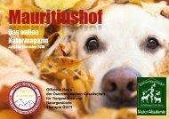 Mauritiushof Naturmagazin November 2018